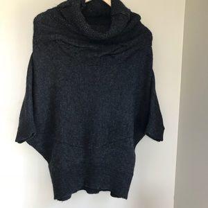 Vince Alpaca Blend cowl neck poncho sweater